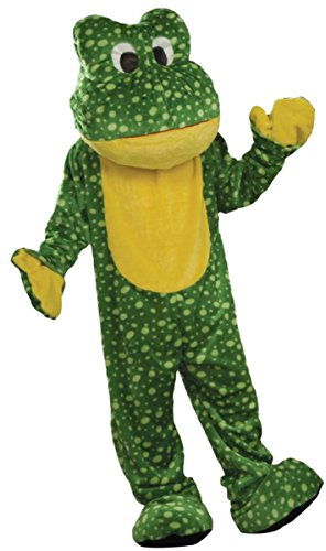 Forum Novelties Boy's Deluxe Plush Frog Mascot, One Size -