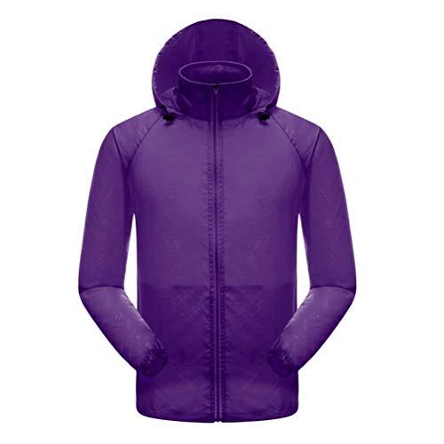 Donna Outwear Grazioso Moda Autunno Mantello Sottile Trench Stlie Cappuccio Solare Giovane Protezione Lunga Elastico Brillante Collo Purple Coreana Manica Facile Maniche Elegante Con Colore dpSWx70p