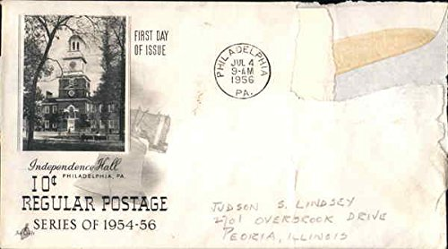 10c Regular Postage Series of 1954-56 Independence Hall Original First Day Cover