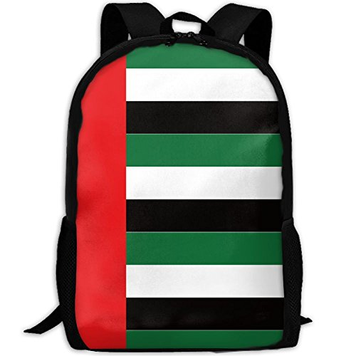 United Arab Emirates Flag Adult Travel Backpack School Casual Daypack Oxford Outdoor Laptop Bag College Computer Shoulder Bags -