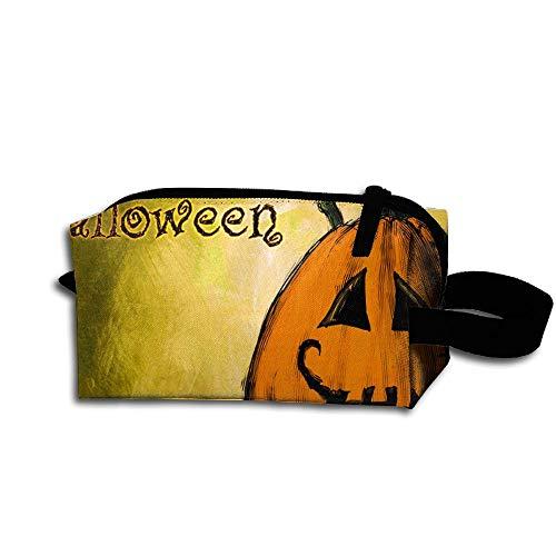 Nutcr King Fong Halloween PumpkinNylon Pencil Case, Essentials Bag, Makeup Bag for Men/Women/Youth]()