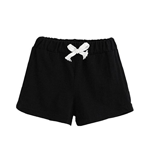 2-7 Years Old,Yamally_9R Fashion Baby Boys Girl Summer Cotton Drawstring Shorts Pants Clothes (6T, Black) ()