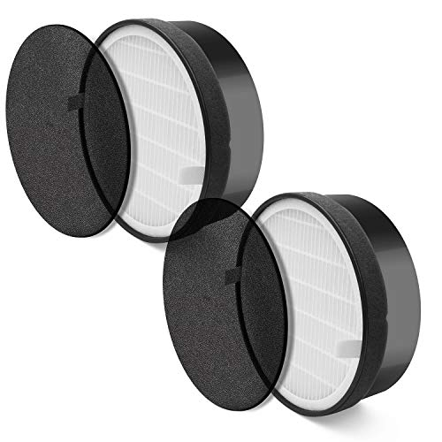 (LEVOIT LV-H132 (2 Pack), True HEPA and Activated Carbon Set, LV-H132-RF Air Purifier Replacement Filter, Piece)