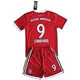 Lewandowski #9 Bayern Munich 2017-2018 Youths Home Shirt & Shorts Set (7-8 Years Old)