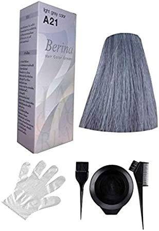 Berina Tinte de pelo A21 gris para pelo corto – incluye pincel ...
