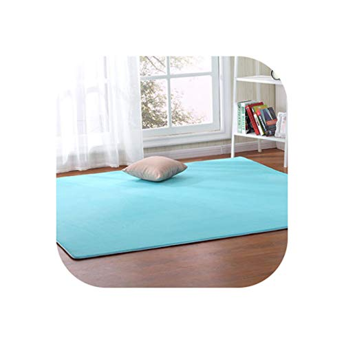 Outdoor Tent Bottom Pad Thick Coral Fleece Carpet Tatami Rug Bedroom Living Room Bay Window Blanket Crawling Mat,11,140 X200Cm