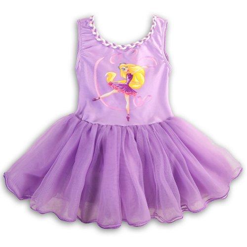 Disney Princess Ballet Dress (Disney Store Girls Princess Rapunzel Ballet Tutu Leotard Size Small 5/6)
