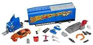 Mattel R5485-0 Hot Wheels - Camión con taller de coches