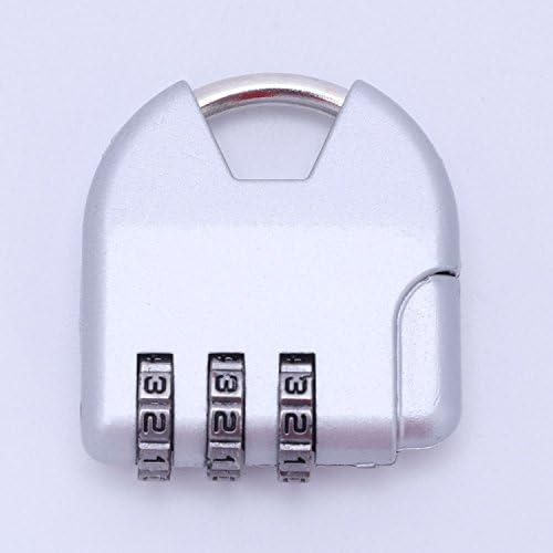 Vaorwne コンビネーショントライアングルスーツケース荷物のパドロックパスワードロック亜鉛合金の安全ロックスーツケースコードロックキャビネットロッカーの南京錠