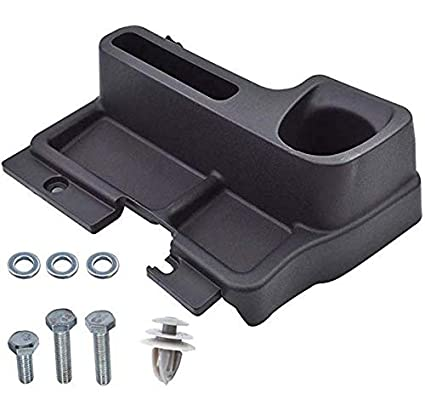 Goldfire Black ABS Armrest Storage Box Floor Center Console Tray Cup Holder Fit for Toyota Land Cruiser LC70 LC71 LC76 LC77 LC79