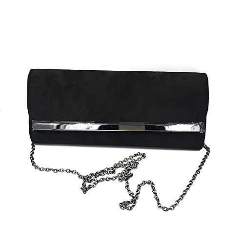 Qztg in Handbags con Night Hand Large Classic Borse Suede colore Capacity Donna Tote nero cristalli The r1xAr