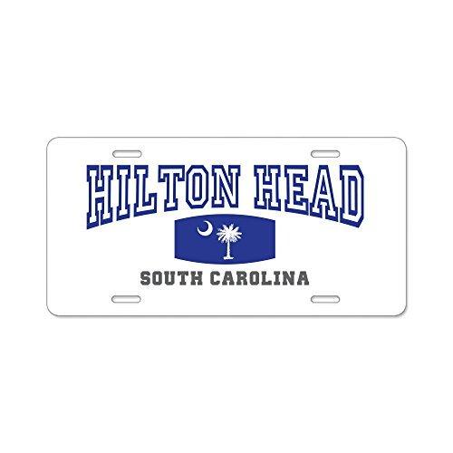 zaeshe3536658 Hilton Head Island South Carolina, Palmetto State Aluminum License Plate, Front License Plate, Decorative Car Auto Tag Car Tag Vanity Plate Tag Car (Palmetto Hilton Head)