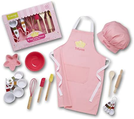 Spoon Childrens Baking Set with Mixing Bowl Baking Mat and Fairy /& Unicorn Cake Cases and Toppers
