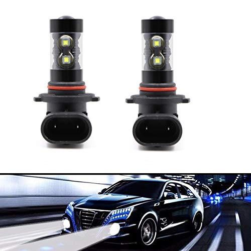 2pcs 9045 9040 9140 H10 9145 PY20D Fog Light Driving Lamp DRL 50W 10SMD LED Bulbs White 6000K Super Bright High Power Replacement ()