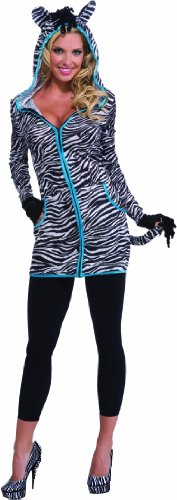 Rubie's Costume Halloween Sensations Urban Zebra Costume, White/Black, Standard