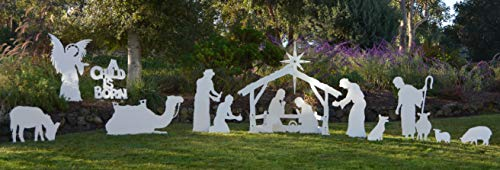 MyNativity Complete Medium Size Christmas Outdoor Nativity Set (3 different outdoor nativity sets to choose from, Medium, Large, and Life size Outdoor Nativity Scenes.)]()