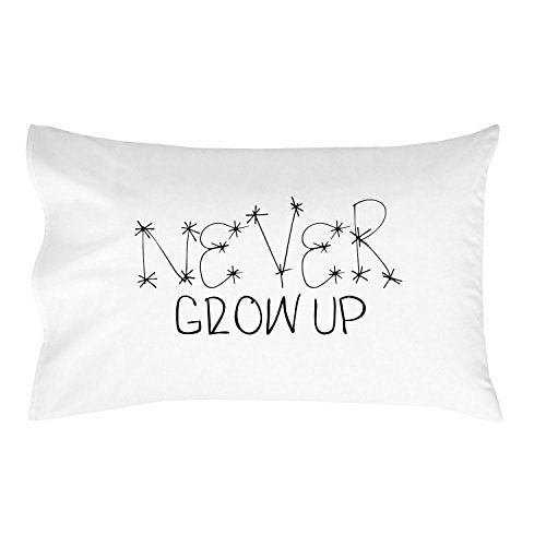 Oh, Susannah Never Grow up Pillow Case for Kids Toddler Room Décor For Boys Children's Birthday Gift Idea (1 Standard Size Pillowcase)