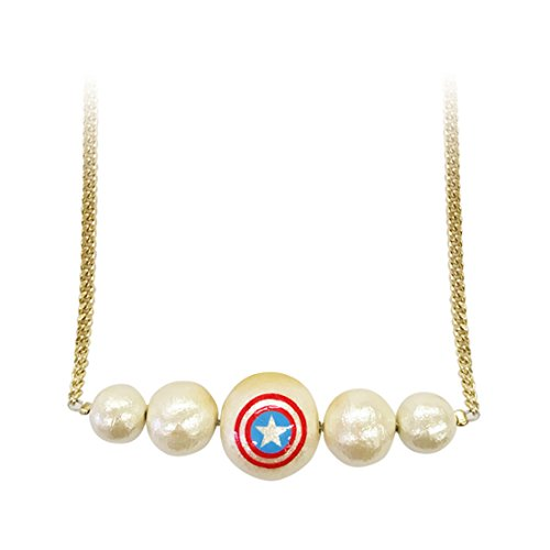 Captain MARVEL cotton Pearl accessories necklace USA SPAC488R