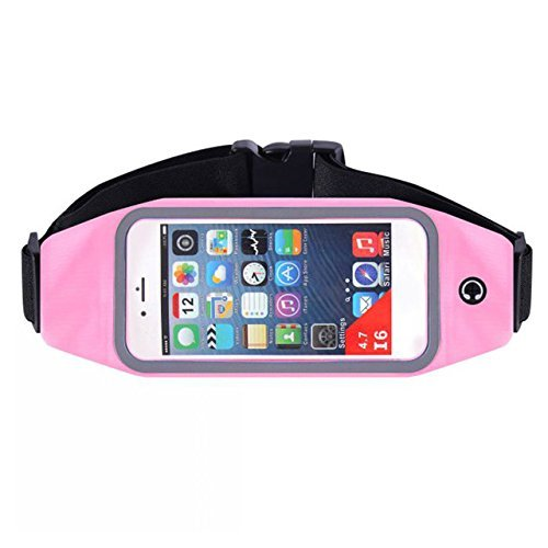 Advent Basics Adjustable Waterproof Mobile Waist Pouch Bag Case Cover With Transparent (Louis Vuitton Canvas Belt)