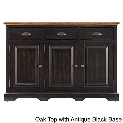 Inspire Q Eleanor Two-Tone Wood Cabinet Buffet Server by Classic Black Antique
