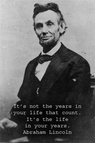 abraham lincoln inspirational poster quote