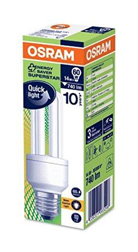 Osram E27 14 Watt Compact Fluorescent Light Dulux Star Stick CFL Energy  Saving Bulb: Amazon.co.uk: Lighting