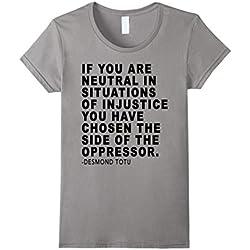 Womens Anti Trump Protest Political Neutral Oppressor T Shirt XL Slate