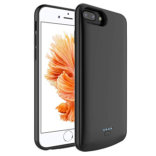 Battery Case for iPhone 7/8/6/6s,TRONOE 4000mAh Portable Charger Case Extended Battery Protective Charging Case Compatible with for iPhone 8/7/6s/6 (4.7 Inch) (Black) ()