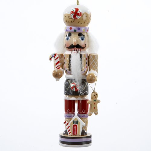 Kurt Adler Gingerbread Man Nutcracker Wooden Christmas Ornament -