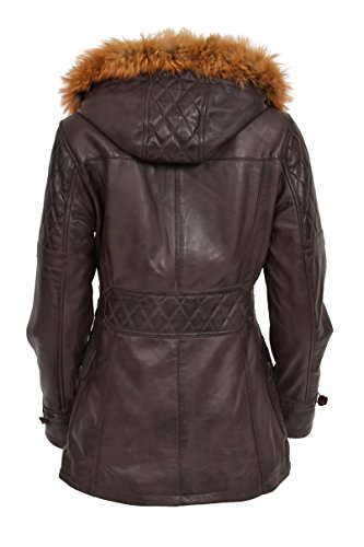 Goods Coat Femme Fashion Marron Longues Duffle Manches Manteau A1 6AP1wxqx