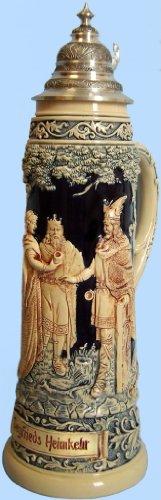 (Traditional German Beer Stein- Siegfried's Return, replica from Year 1890)