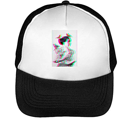 Animal Punk Rock Lady Nature Lover Gorras Hombre Snapback Beisbol Negro Blanco