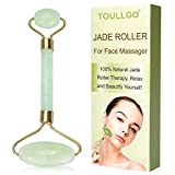 Facial Exercises Eye Wrinkles - Jade Roller, Jade Roller For Face, Jade Facial Roller, Anti Aging Jade roller Therapy 100% Natural jade facial roller double Neck Healing Slimming Massager