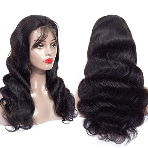 Human Hair Wigs Body Wave 12 Inch Brazilian Hair Wig 4x4 Lace Frontal Wig For Women Pre Plucked With Baby Hair Natural Hairline Natural Color