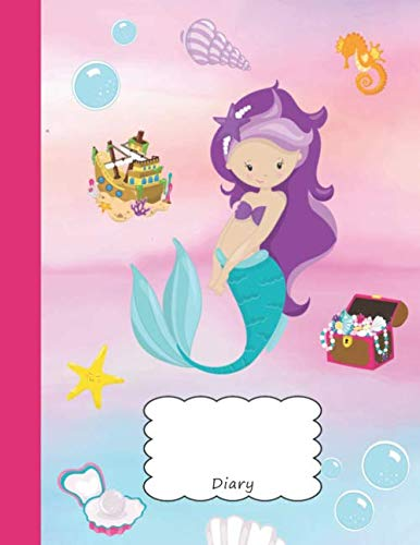 (Diary: Mermaid Rihanna Journal & Personal Writing Pad |  Beach Sea Horse Shell Starfish Treasure Chest Pirate Pearl Cover for your Little Princess | ... Reporters & Writers | Note Thoughts & Ideas)