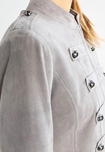 11sunshop - Chaqueta - Manga Larga - para mujer gris