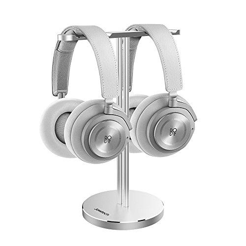 Panasonic Dj Home Headphones (Dual Headphone Stand, Jokitech Aluminum Slim Headphone Stander, Suitable for Beats, Sennheiser, Sony, Audio-Technica, Bose, Shure, AKG, Panasonic Headphones and More (Silver))