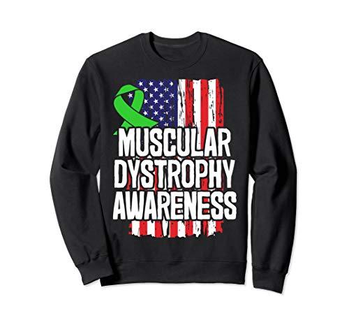 Lime Green Ribbon Becker Muscular Dystrophy Survivor Sweatshirt