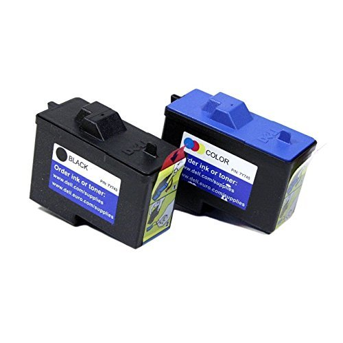 Genuine Dell Series 2 7Y743 7Y745 FN181 FN190 Ink cartridge 2 Pack in Bulk Packing for Dell A940 A960 Printers