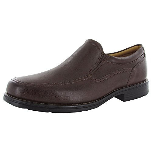 Rockport Men's Liberty Square Twin Gore Slip-On, Brown, 10.5