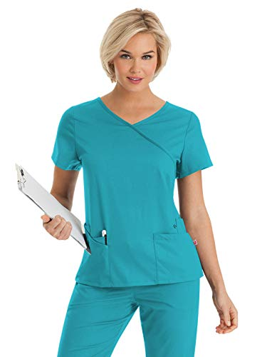 (Urbane Ultimate 9577 Sophie Crossover Tunic Teal S)