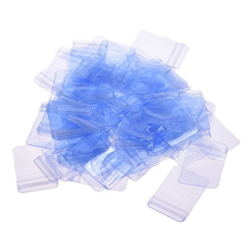 - BCP 100 Pcs Clear Transparen Resealable Zipper Poly Bags Jewelry Oxygen-Proof PVC Self Sealing Zipline Rings Earrings Bags 4x6cm