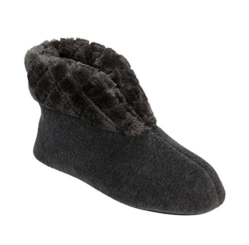 DEARFOAMS VELOUR BOOTIE W/ QUILTED PILE CUFF - Numero S