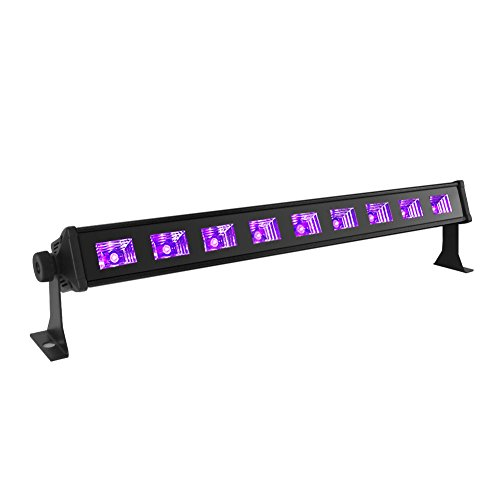 Black Light, OPPSK 27W 9LED UV Bar Glow in the Dark Party Supplies for Blacklight Party Birthday Wedding Stage Lighting - Black Professional Dj Lighting