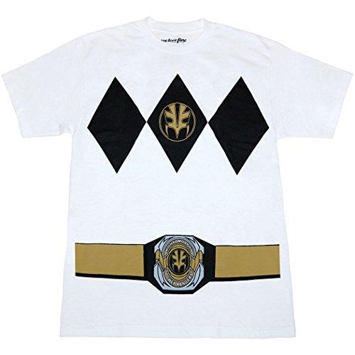 White Ranger Belt Costume