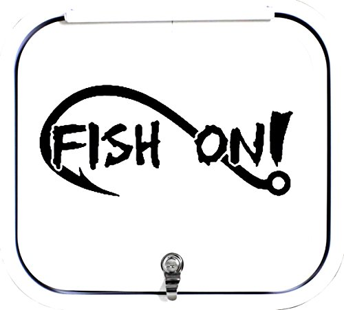 A1154 Fish On Bass Fishing Decal Sticker White