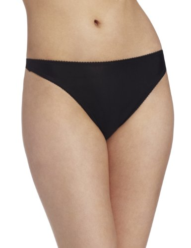Carnival Women's Microfiber Thong, Black, Small