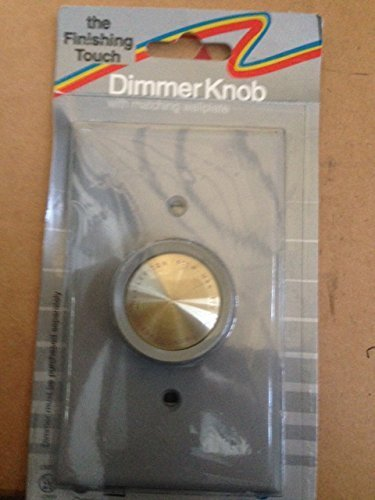 Leviton Rotary Dimmer Knob + Wallplate - Grey