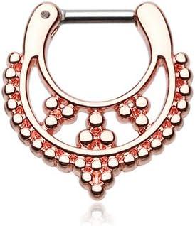 WildKlass Jewelry Rose Gold Royal Filigree Septum Ring