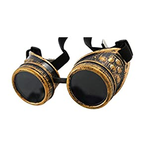 Sparks Steampunk Goggles with Removable Lens Cap